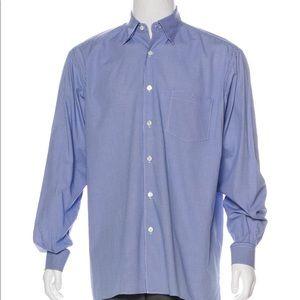 ERMENEGILDO ZEGNA Houndstooth Button-Up Shirt